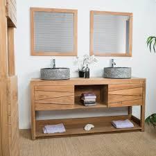 meuble sous vasque vasque en bois teck massif cosy