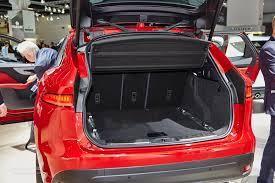 jaguar f pace trunk jaguar f pace confirmed to make its debut in september at