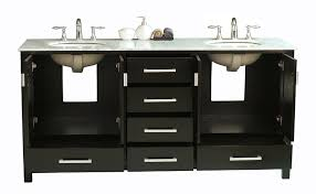 Espresso Double Vanity Stufurhome Gm 6412 72 Cr 72in Malibu Double Sink Vanity In