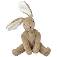 stuffed bunny brown beige bunny rabbit soft organic plush toys