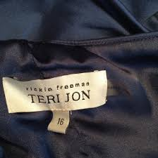 rickie freeman for teri jon blue sapphire style number 39023