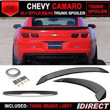 camaro zl1 for sale ebay 10 13 chevrolet camaro zl1 style trunk spoiler black w led 3rd
