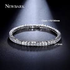 bracelet jewelry tennis images Newbark classic square 3mm cz tennis bracelets for woman silver jpg