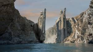 wallpaper middle earth mountains the lord of the rings argonath statues middleearth rivers