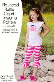 ruffle girl free girl s legging pattern includes length legging