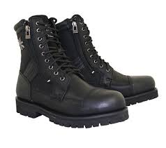 men s motorcycle boots xelement 1506 impact men s black motorcycle biker boots