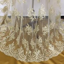fabric tulle gold lace fabric tulle mesh embroidered flowers corded lace light