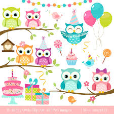 Owl Item by Owls Clipart U0027birthday Owls U0027 Clip Art Digital Owls