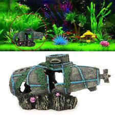 aquarium ornament sunken submarine fish tank decoration tropical