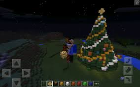 how to build a christmas tree part 2 decorating minecraft pe