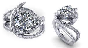 custom design rings images Popular custom engagement ring with recently designed unique jpg