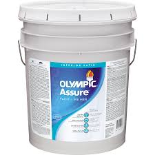 shop olympic assure tintable satin latex interior paint and primer
