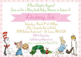 storybook themed baby shower invitations storybook themed baby