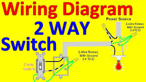 2 way light switch wiring diagrams youtube endear multiple outlets