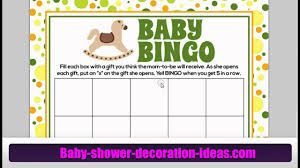 printable baby shower bingo games yours for free youtube