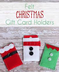 how to make gift cards felt character christmas gift card holders diy candy