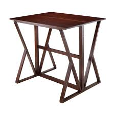wood counter height table winsome wood 94139 harrington drop leaf counter height table