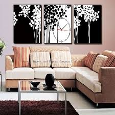 living room decor with wall clock hz wall decoration pictures