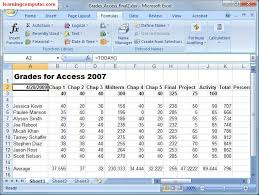 microsoft excel formulas tab tutorial learn ms excel 2007 it