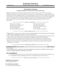Portfolio Resume Sample by Advisor Resume Example