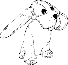 coloring page of a big dog big eared dog coloring page dog coloring pages org