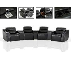 Reclining Sectional Sofa Eco Leather Recliner Sectional Sofa W Audio System 44l5965