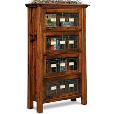 barrister bookcase solid wood handmade leaded glass doors