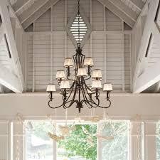 Chandeliers With Lamp Shades Shop Elegant Chandelier Lighting U0026 Hanging Light Fixtures Bronze