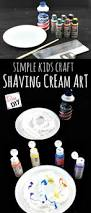 simple craft for kids how to create shaving cream art