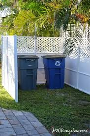 Backyard Garbage Cans by Easy Privacy Screen Hides Ugly Yard Items H20bungalow