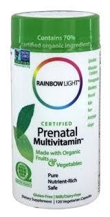 Prenatal One Rainbow Light Buy Rainbow Light Certified Organics Prenatal Multivitamin 120