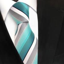 designer krawatten tigertie designer krawatte türkis mint grau weiß schwarz gestreift