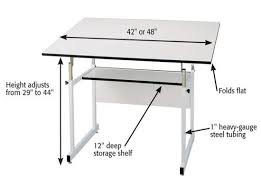 Steel Drafting Table Alvin Workmaster Jr Drafting Table 36x48 Top White Base