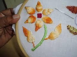 Fish Bone Stitch Embroidery Tutorials Embroidery Rumanian Raised Fish Bone Stitch Flower Designs