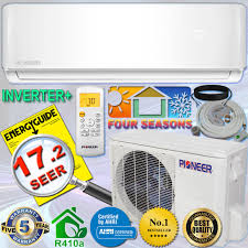 ductless mini split air conditioner pioneer 12000 btu 17 seer inverter ductless mini split heat pump