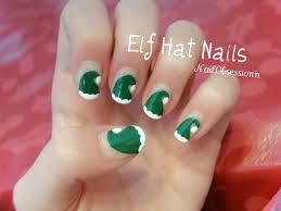 easy elf hat nail art youtube