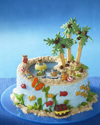 Tropical Themed Cake - teen u0027scape tropical summer cakes