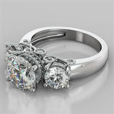 stone rings images 3 16ct round brilliant engagement ring available in 14k 18k and jpg