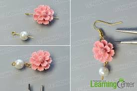 make dangle earrings pandahall original project how to make simple flower dangle