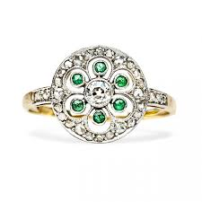 inexpensive engagement rings victorian inexpensive flower emerald ring kingwood