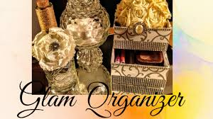 diy dollar tree glam organizer gift ideas home decor youtube