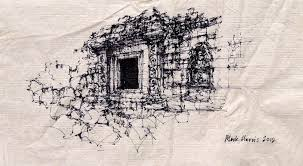 angkor wat sketch starbucks napkin and sharpie pen flickr