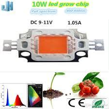 what color light do plants grow best in led grow light full spectrum 10w 380nm 840nm spectrum led for plant