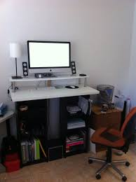 small stand up desk ikea stand up desk hack and computer desks minimalist home office