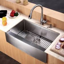 silver stainless steel sink with silver steel faucet combined with