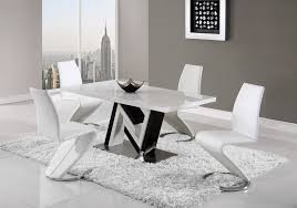 global furniture dining table dining table d4163dt black white hg by global furniture