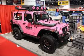 sema jeep yj pink jeep from sema 2012 sold at barrett jackson scottsdale for