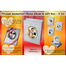 5 x 5 photo album frozen memories photo album in ribbon gift box 100 pictures 5