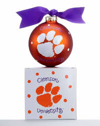 clemson logo personalized ornament