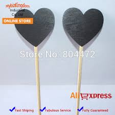 50 wooden chalkboard hearts on a stick cake toppers font b table b font numbers candy jpg